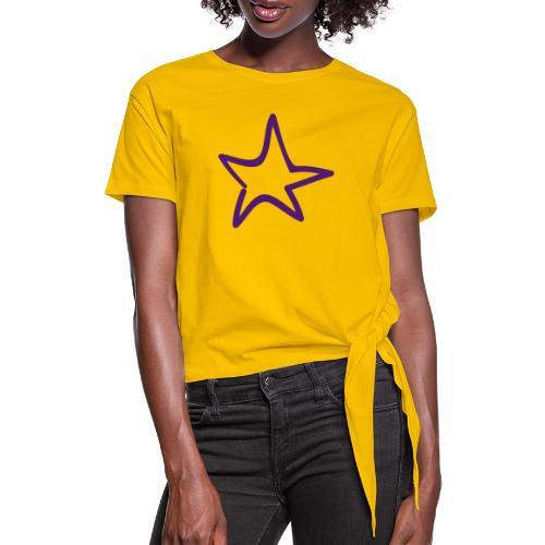 Star Outline Pixellamb - Knotenshirt