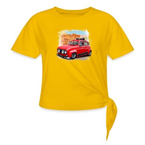 R4 4L prête au départ pour le Raid dans le désert - T-shirt à nœud Femme