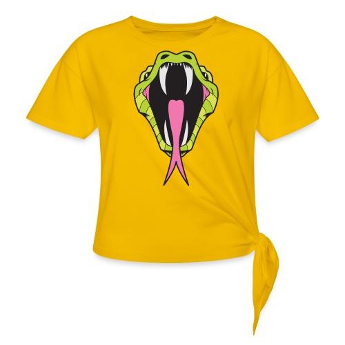 SNAKE SHIRT - Women's Knotted T-Shirt