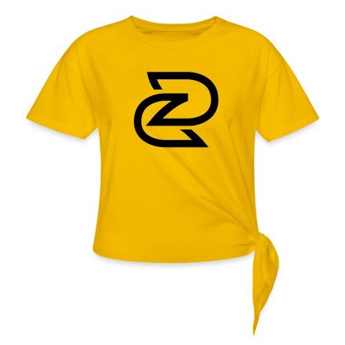 BEELDMERK ZWART - Vrouwen Geknoopt shirt