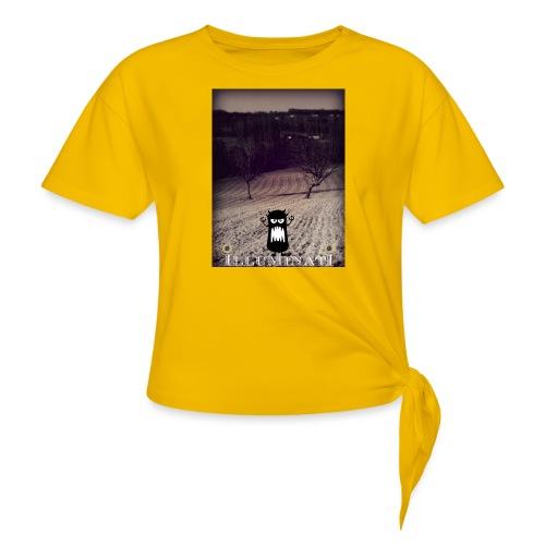 illuminati - T-shirt à nœud Femme