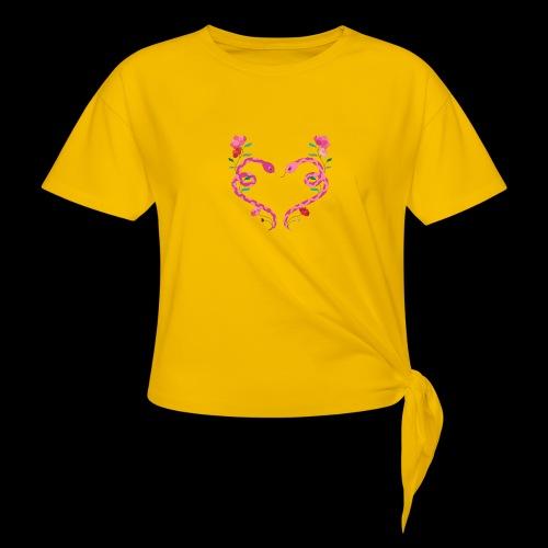 Coeur de serpents - T-shirt à nœud Femme