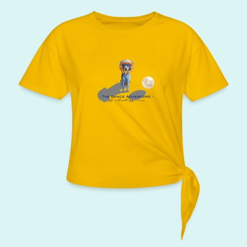 The Space Adventure - Women's Knotted T-Shirt