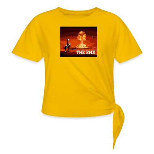 THE END (version 2 : pour toute couleur de fond) - T-shirt à nœud