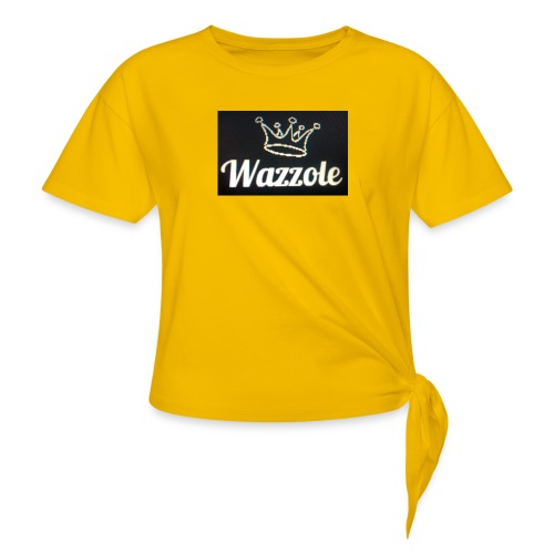 Wazzole crown range - Women's Knotted T-Shirt
