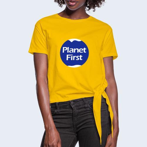 Planet First 2 - Vrouwen Geknoopt shirt