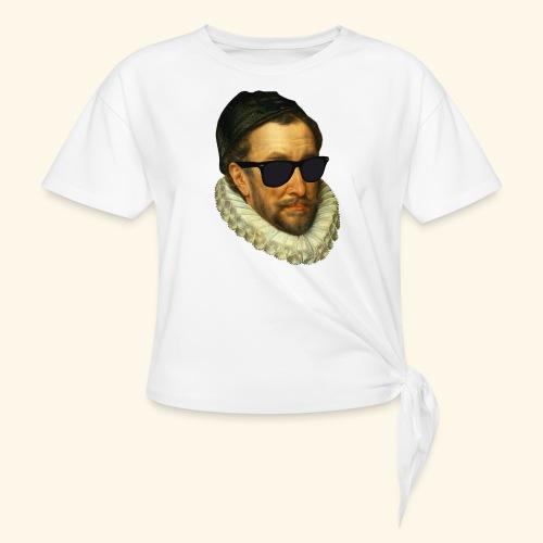 Fijn Uitgedoste Barbaar (zonder tekst) - Vrouwen Geknoopt shirt