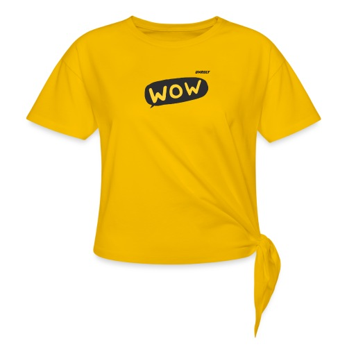 WoW Shirt - Women's Knotted T-Shirt