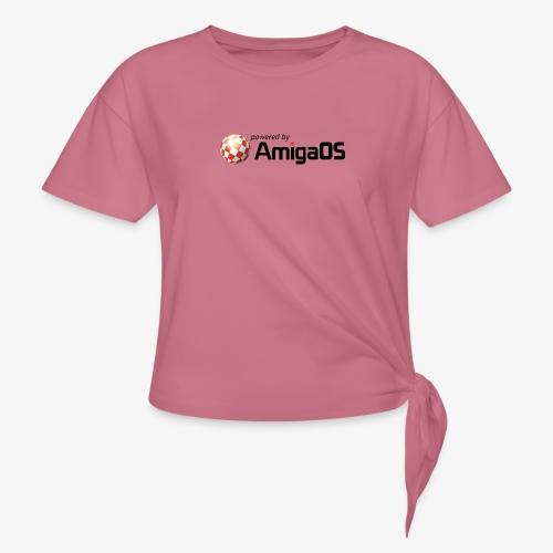 PoweredByAmigaOS Black - Knotted T-Shirt
