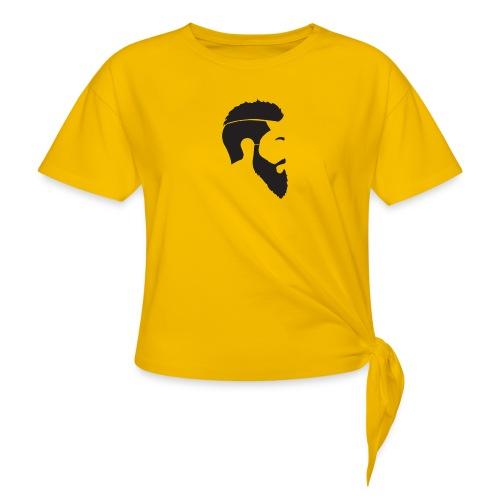 HEAD WHITE T-SHIRT - T-shirt med knut