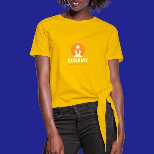 final white con scritta CORRETTO - Women's Knotted T-Shirt