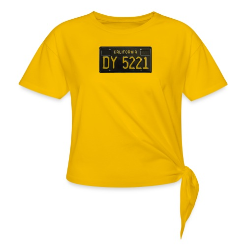 CALIFORNIA BLACK LICENCE PLATE - Knotted T-Shirt