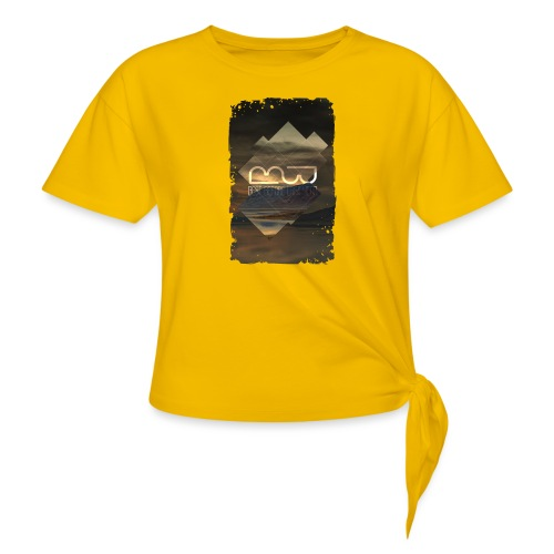 Men's shirt Album Art - Women's Knotted T-Shirt