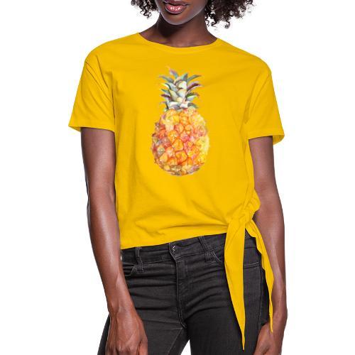 Piña tropical - Camiseta con nudo mujer