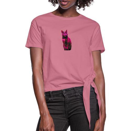 Gatto - Maglietta annodata da donna