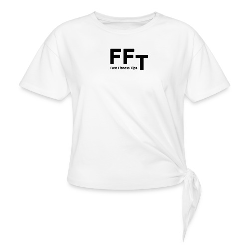 FFT simple logo letters - Women's Knotted T-Shirt