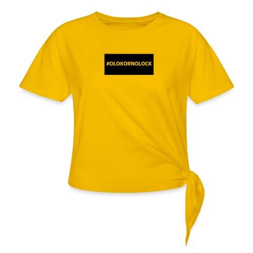 #OLOKORNOLOCK - T-shirt med knut dam