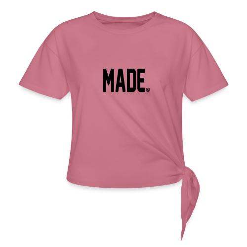 madesc - T-shirt med knut dam