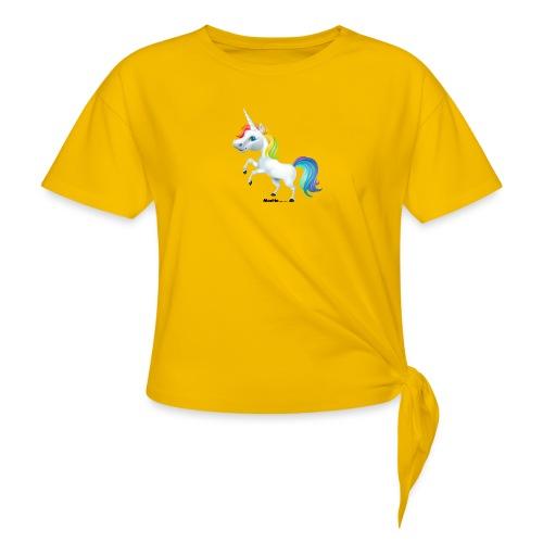 Regenboog eenhoorn - Vrouwen Geknoopt shirt