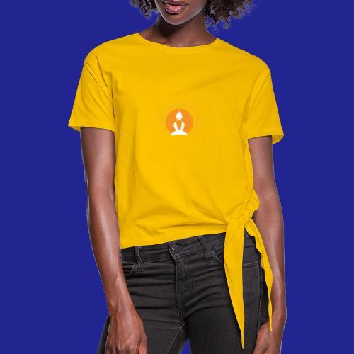 Guramylyfe logo white no text - Women's Knotted T-Shirt