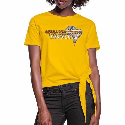 Afro Lova Savane - T-shirt à nœud Femme