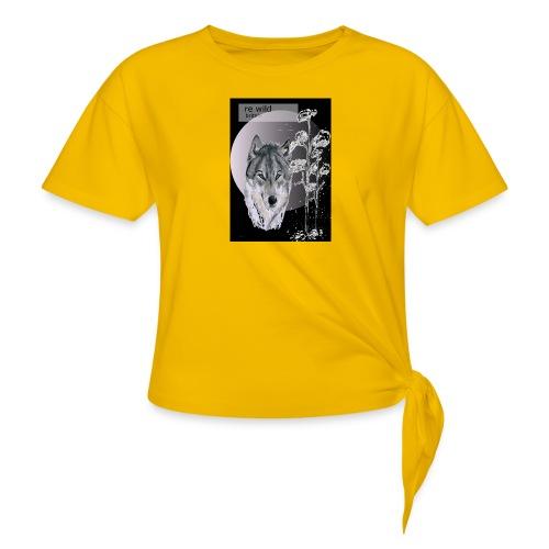 Re wild britain tee shirt - Women's Knotted T-Shirt