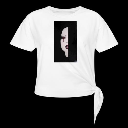 BlackWhitewoman - Maglietta annodata da donna