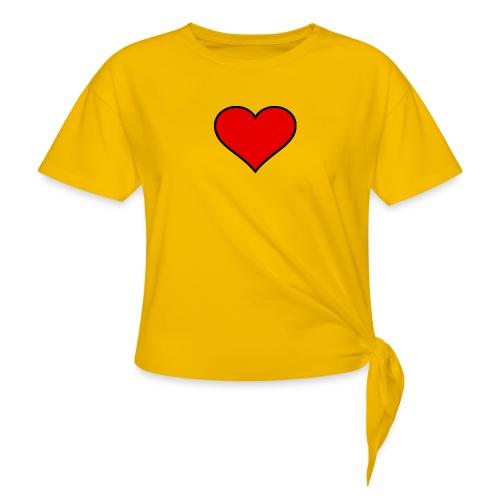 big heart clipart 3 - T-shirt med knut dam