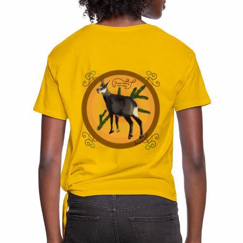 Le chamois - T-shirt à nœud Femme
