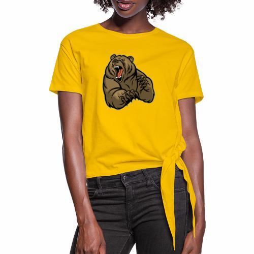 méchant grizzli - T-shirt à nœud Femme