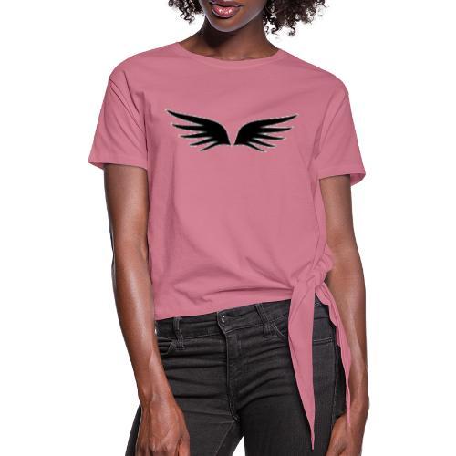 logo1 - T-shirt med knut dam