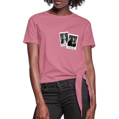 LYTLM SG Polaroid - Frauen Knotenshirt