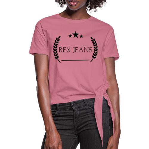 Rex Jeans - Frauen Knotenshirt