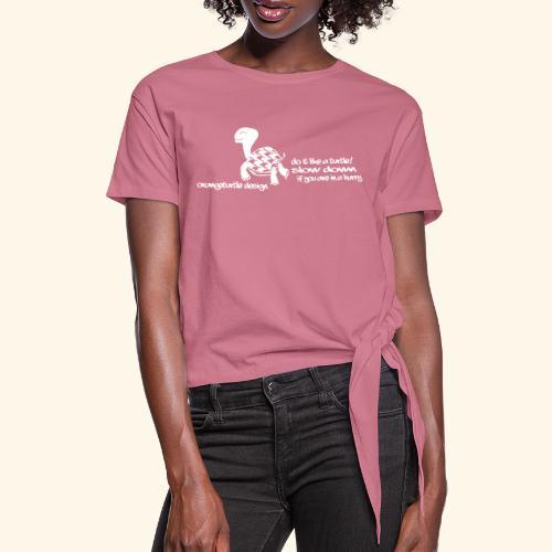 Schildkröte - Frauen Knotenshirt