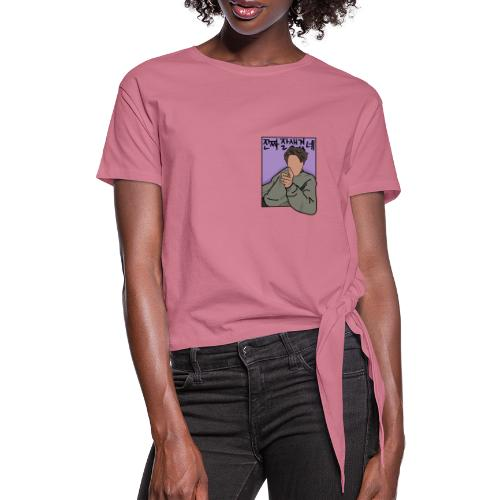 You Look Handsome COLOR - Women's Knotted T-Shirt