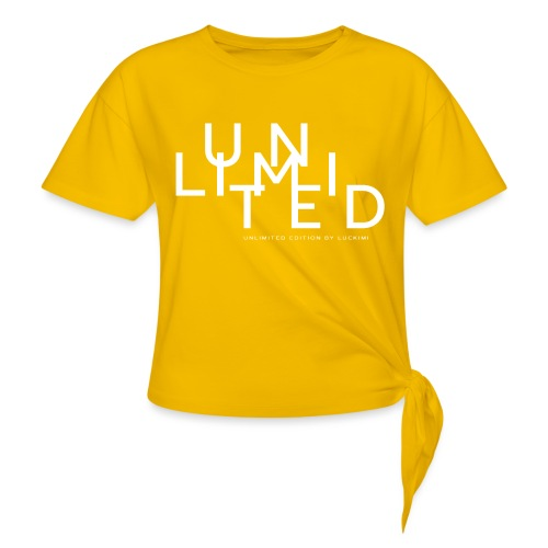 Unlimited white - Knotted T-Shirt