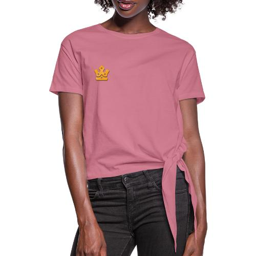 Minr Crown - Women's Knotted T-Shirt