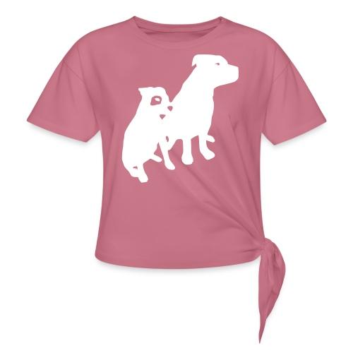 Doggy / zwei brave Hunde zum verschenken - Knotenshirt