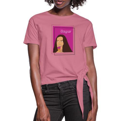 SUGAR - Camiseta con nudo mujer