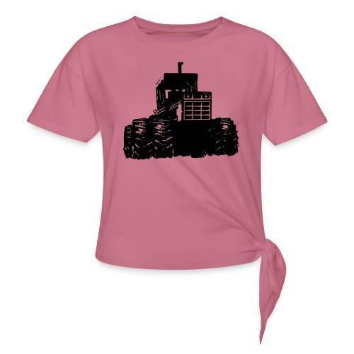 IH 4WD Tractor - Women's Knotted T-Shirt
