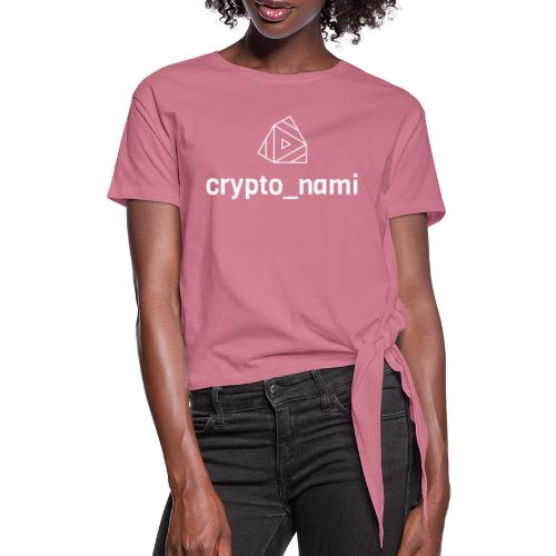 crypto_nami - Women's Knotted T-Shirt