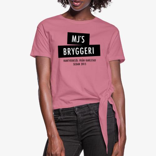 MJs logga - T-shirt med knut dam