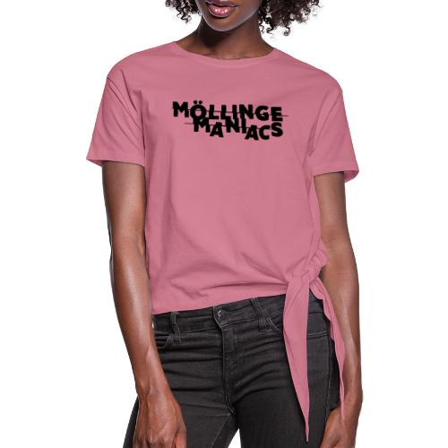 Möllinge Maniacs svart logga - T-shirt med knut dam