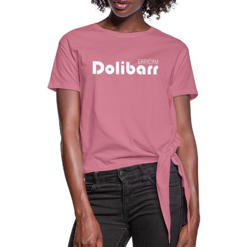Dolibarr logo white - Women's Knotted T-Shirt