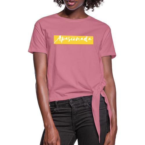 Colorful Amarillo- apasionada - Camiseta con nudo mujer