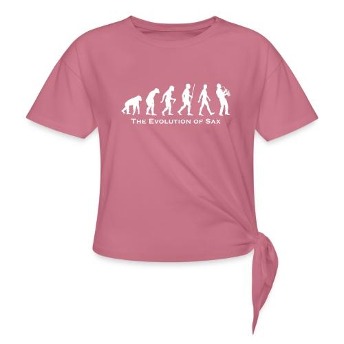 The Evolution Of Sax - Camiseta con nudo mujer