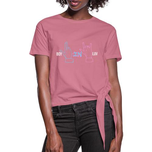 Boy In With Love Color V&JK - Women's Knotted T-Shirt