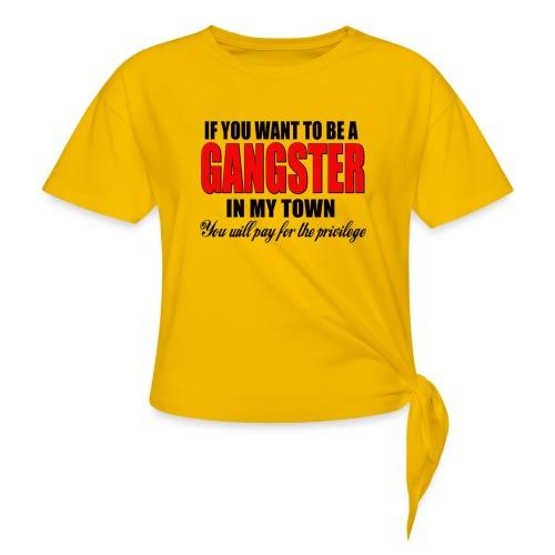 ville gangster - T-shirt à nœud