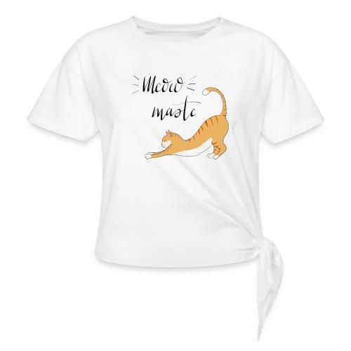 Meowmaste - Frauen Knotenshirt