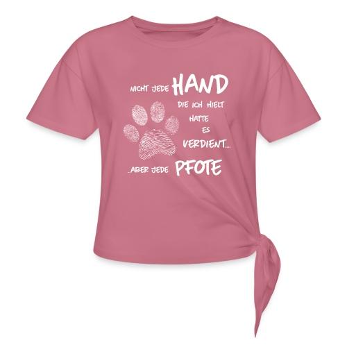 Vorschau: Hand Pfote Hund - Frauen Knotenshirt